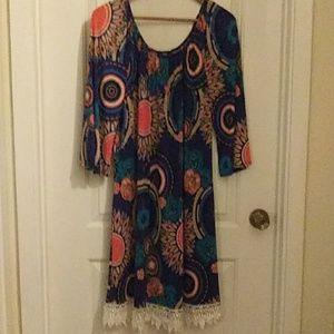 Multi color flowey dress